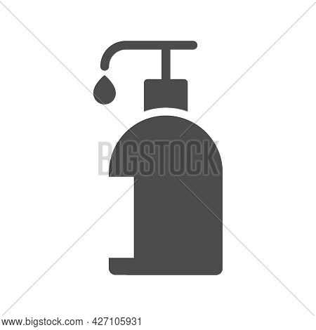 Sanitizer Silhouette Vector Icon Isolated On White Background. Sanitizer Icon For Web, Mobile Apps,
