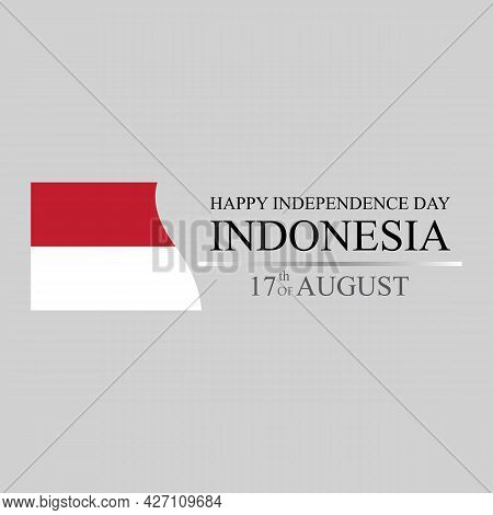 Happy Independence Day Of Indonesia Logo Vector Illustration Design Template