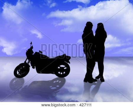 Lovers And Motorbike