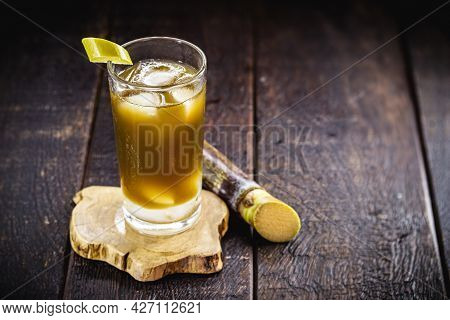 Sugarcane Juice, Called Garapa In Brazil, Made With Sugar Cane, Served Chilled