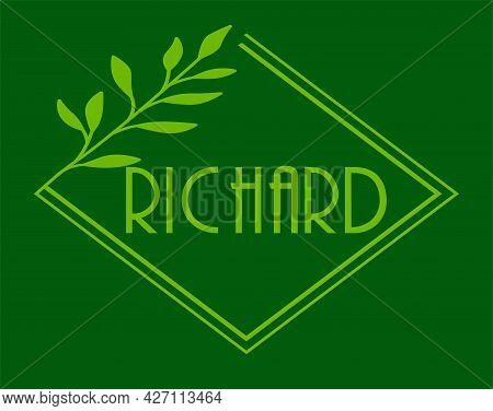 Initial Handwritten Richard Name Logo Design, Logo For Corporate Identity, Company Name, Product Nam
