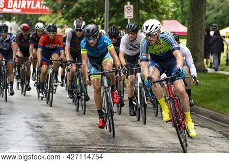 Wauwatosa, Wi/usa - June 26, 2021: Racers On Course During Washington Highlands Category Three Four