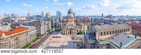 Panoramic View At The Famous Gendarmenmarkt, Berlin