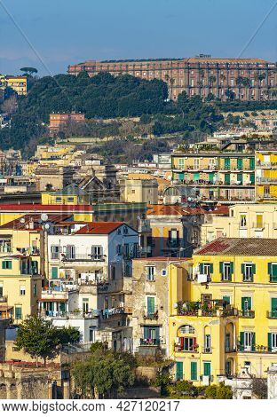 Marvelous View Of The Naples City, Italy From Belvedere San Martino