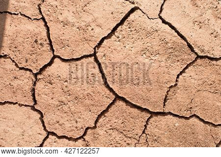 Dry Soil Texture, Red Clay. Background. Spain