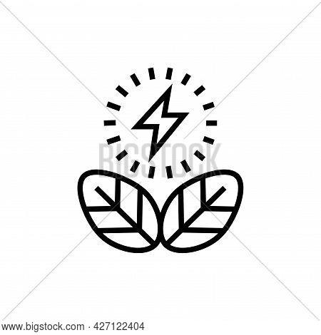 Eco Energy Icon. Alternative Energy Vector Illustration.
