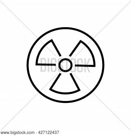 Nuclear Power Icon. Alternative Energy Vector Illustration.