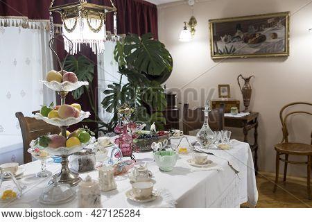 Bogoroditsk, Tula Oblast, Russia - June 25 2021. The Count Bobrinsky Palace In Bogoroditsk City. Int