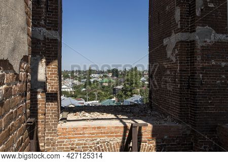 Yelets, Lipetsk Region, Russia - June 17, 2021, View From The Bell Tower To The Central Part Of The