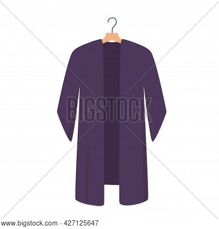 Tunic With Hanger, Casual Clothing, Shirt. Vector Illustration In Flat Style