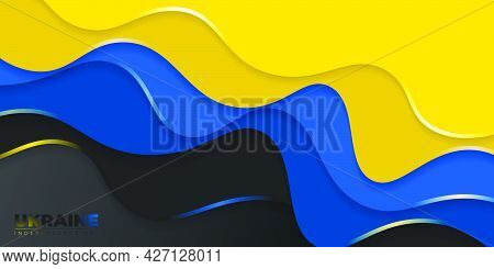 Blue And Yellow Abstract Background For Ukraine Independence Day Design. Good Template For Ukraine N
