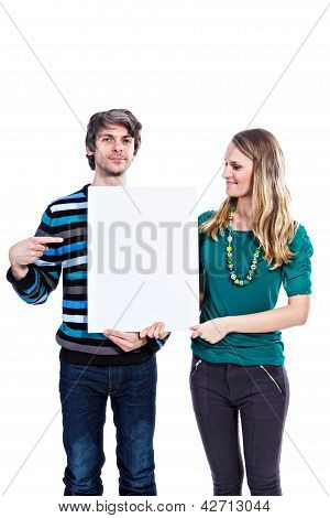 Man And Woman With White Board