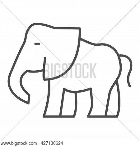 Elephant Thin Line Icon, Worldwildlife Concept, Baby Elephant Vector Sign On White Background, Baby