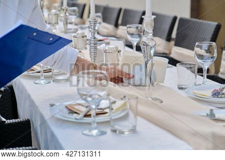 Catering For Events, Banquet Decorated Table, Table Setting Decoration.