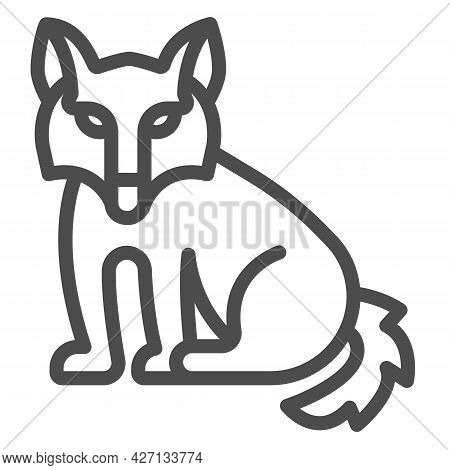 Wolf Line Icon, Worldwildlife Concept, Wolf Vector Sign On White Background, Wolf Outline Style For