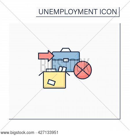 Unemployment Vacation Color Icon. Unemployment Benefits.vacation Payments. Payment Concept. Isolated