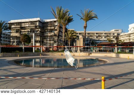 Topic Is Bankruptcy Of Hotel Restaurant Business On Island Of Cyprus During Coronavirus Quarantine.