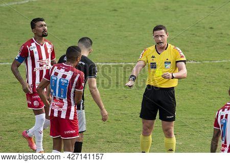 Rio, Brazil - July 18, 2021: Ramon Abatti Abel Referee In Match Between Vasco 1 Vs 1 Nautico By 12th