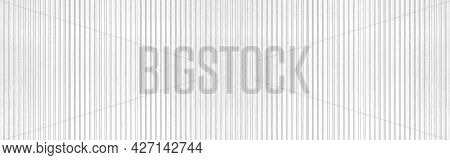 Panorama Of White Painted Galvanized Fence Texture And Background Seamless