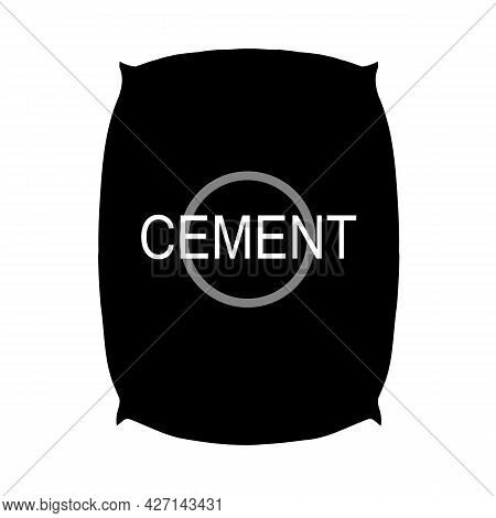 Cement Bag Icon On White Background. Paper Sacks Sign. Construction Tool Cement Bag Symbol. Flat Sty