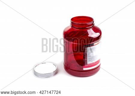 An Empty Bottle Of Whey Protein Nutrition