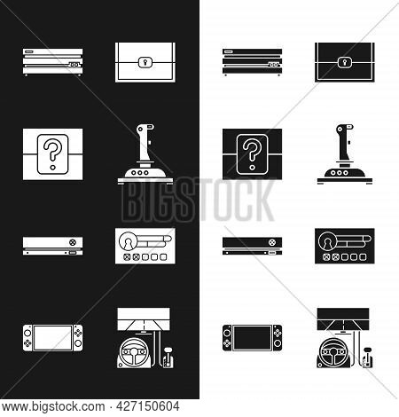 Set Joystick For Arcade Machine, Mystery Random Box, Video Game Console, Chest, Create Account Scree