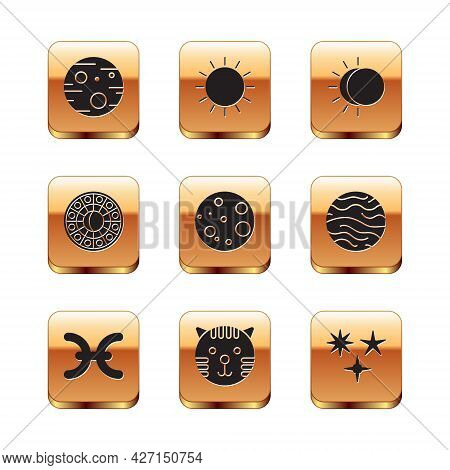 Set Planet Mars, Pisces Zodiac, Tiger, Moon, Astrology Horoscope Circle, Eclipse Of The Sun, Falling