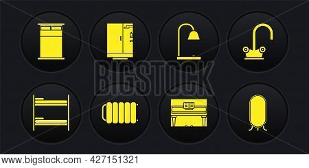 Set Bunk Bed, Water Tap, Heating Radiator, Grand Piano, Table Lamp, Shower Cabin, Big Full Length Mi