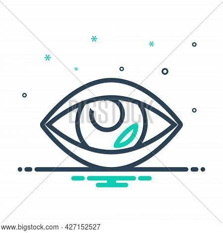 Mix Icon For Vision See View Look Sight Watch Eyesight Peep Eyeball