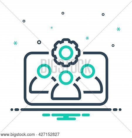 Mix Icon For Team-working Workforce Corporate Employee Function Organization Communication Community