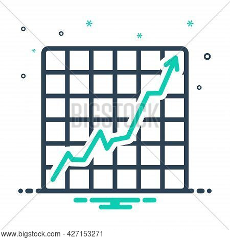 Mix Icon For Increasing-stocks-graphic Graph Chart Increase Growth Achievement Progress Success Char