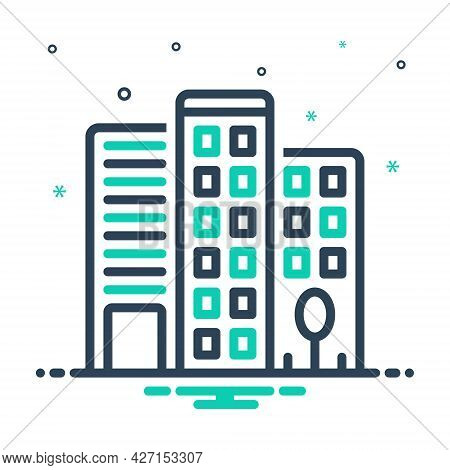 Mix Icon For Office-building Building Office Building  Corporate Architecture Flats Ecommerce