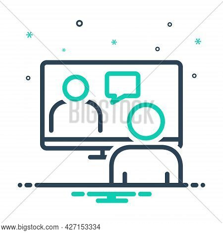 Mix Icon For Online-conference Meeting-room Hall Conference  Executive Pedestal Video-conference Web