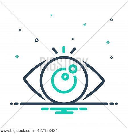 Mix Icon For Eye-looking Vision See View Look Sight Watch Eyesight Peep Eyeball Optical Human