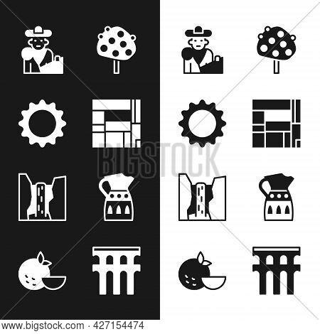 Set House Edificio Mirador, Sun, Bullfight, Matador, Orange Tree, Algar Waterfall, Sangria Pitcher,