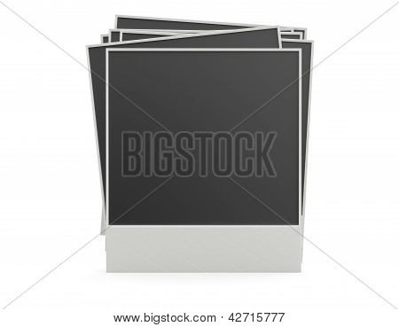 Photo Frame. 3D Model Isolated On White Background