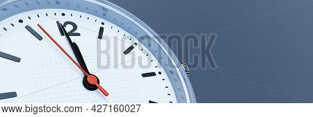 A wrist watch shows twelve. 3D illustration