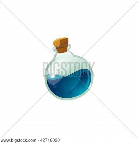 Health Elixir And Magic Spell Potion Flask, Flat Vector Illustration Isolated.