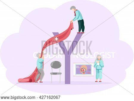Health Care, Medical Examination. Otolaryngologist S Office Concept. Doctor Study Illness Makes Diag