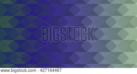 Abstract Blue Low-polygons Generative Background, Illustration. Triangular Pixelation.