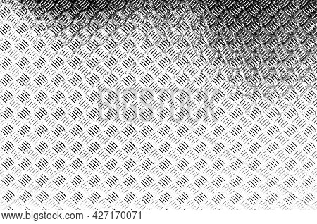 Black And White Textures Textured Steel Plate, Iron Sheet With Staggered Stripes To Prevent Slipping