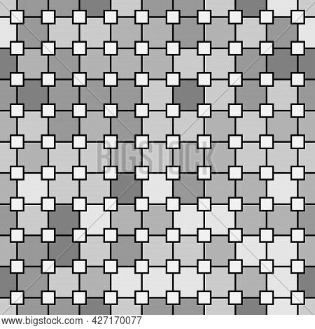Seamless Square Tile Vibrant Contrast Gray And White Pattern Vector Background
