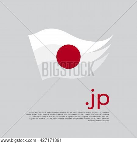 Japan Flag. Stripes Colors Of The Japanese Flag On A White Background. Vector Design National Poster