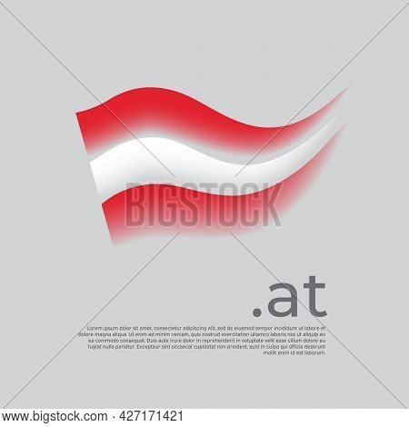 Austria Flag. Stripes Colors Of The Austrian Flag On A White Background. Vector Stylized Design Nati