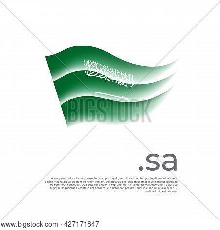 Saudi Arabia Flag. Stripes Colors Of The Saudi Arabian Flag On A White Background. Vector Design Nat