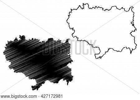 Ravensburg District (federal Republic Of Germany, Rural District, Baden-wurttemberg State) Map Vecto