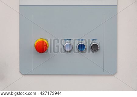 Start Reset Stop And Emergency Buttons Machine Control