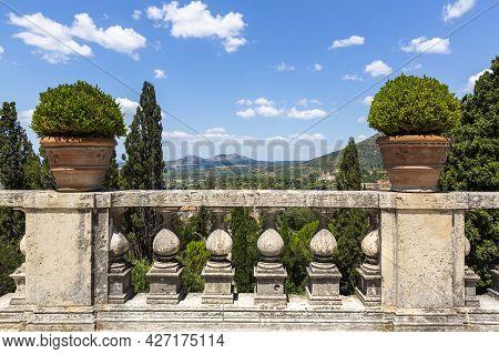 A Beautiful View Of Villa D'este In Tivoli