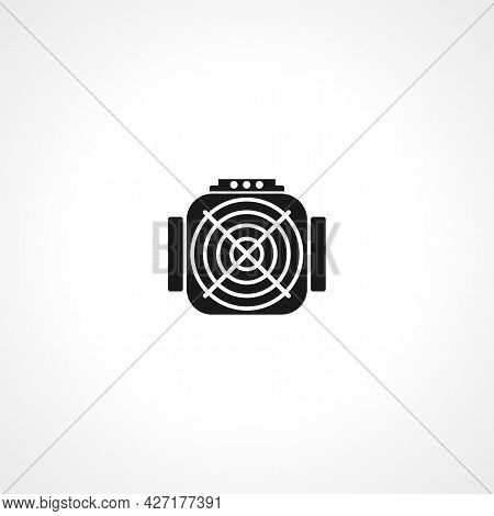 Asic Miner Icon. Asic Miner Isolated Simple Vector Icon.