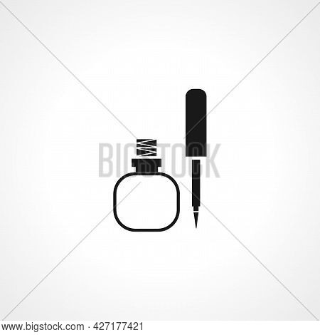 Mascara Brush Icon. Mascara Brush Isolated Simple Vector Icon.
